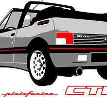 Peugeot 205 CTI cabriolet silver by car2oonz