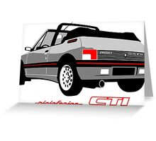 Peugeot 205 CTI cabriolet silver Greeting Card