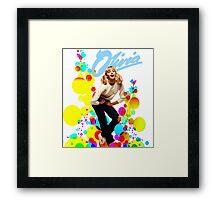 Olivia Newton-John Retro 70's Framed Print