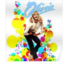 Olivia Newton-John Retro 70's Poster