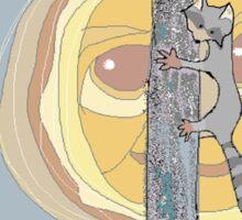 Raccoon Moon Sticker