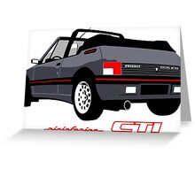 Peugeot 205 CTI cabriolet grey Greeting Card