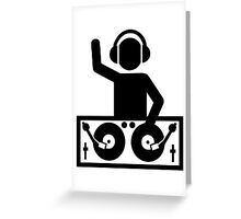 DJ Turntables party Greeting Card