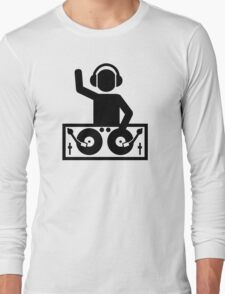 DJ Turntables party Long Sleeve T-Shirt