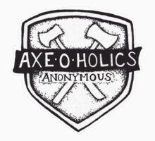 Axe-O-Holics Anonymous Shield Stamp Kids Tee