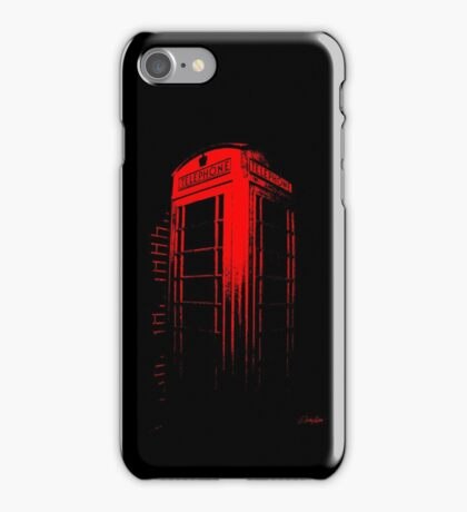 Telephone Booth Red Ink iPhone Case/Skin
