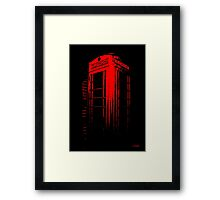 Telephone Booth Red Ink Framed Print