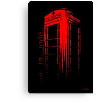 Telephone Booth Red Ink Canvas Print