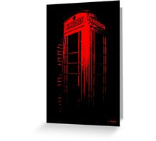 Telephone Booth Red Ink Greeting Card
