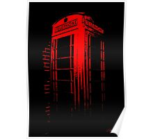 Telephone Booth Red Ink Poster