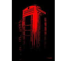 Telephone Booth Red Ink Photographic Print