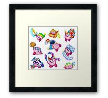 Kirby Abilities Sticker Sheet Framed Print