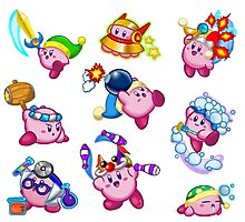 Kirby Abilities Sticker Sheet Photographic Print