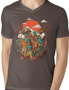 autumn sunset Mens V-Neck T-Shirt
