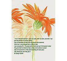 Passion in Prayer Photographic Print