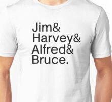 Gotham's Heroes List Unisex T-Shirt