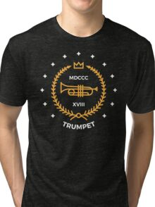 Trumpet - Gold & White Tri-blend T-Shirt