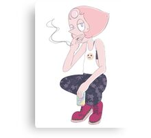 Pearl Smoking Canvas Print