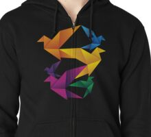 Folded Flight Zipped Hoodie