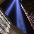 9/11 Tribute Lights, Lower Manhattan, New York City by lenspiro