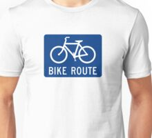 Bike Route Sign Unisex T-Shirt