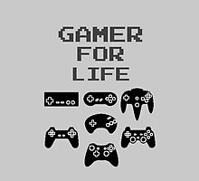 Gamer For Life (Phone Cases ) by PopCultFanatics