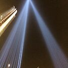 9/11 Tribute Lights, Lower Manhattan, New York City by lenspiro