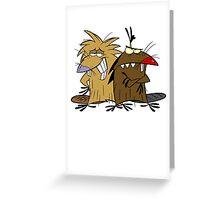Angery Beavers - Norbert & Dagget - Group Greeting Card