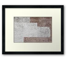 White Brown 01 Framed Print