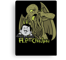 H.P. and Cthulhu Canvas Print