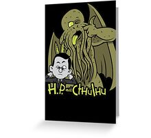 H.P. and Cthulhu Greeting Card