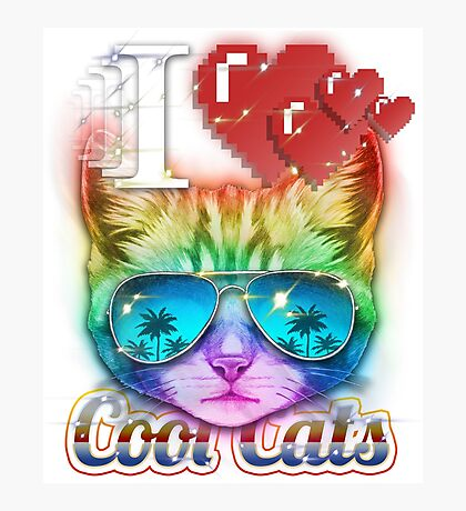 I <3 Cool Cats Photographic Print