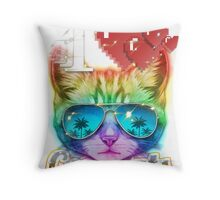 I <3 Cool Cats Throw Pillow