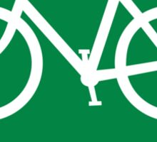 Bike Route Sign Sticker