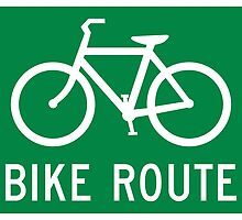 Bike Route Sign by surgedesigns