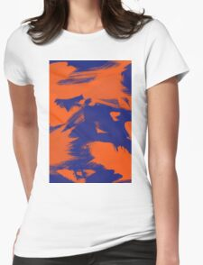 Brush Strokes (Complementary Colors) Womens Fitted T-Shirt