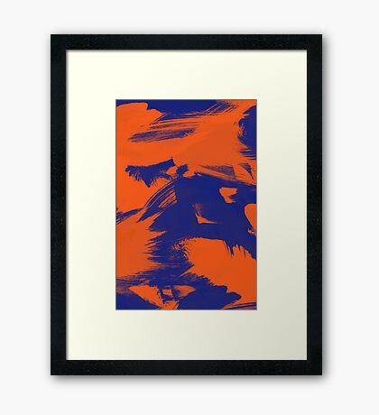 Brush Strokes (Complementary Colors) Framed Print