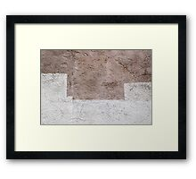 White Brown 02 Framed Print