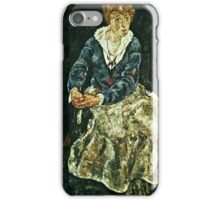 Egon Schiele - The Artists Wife Seated  iPhone Case/Skin