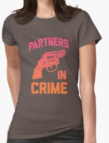 Partners In Crime 1/2 Womens Fitted T-Shirt