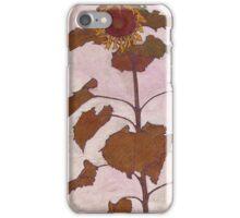 Egon Schiele - Sunflower 1909 iPhone Case/Skin