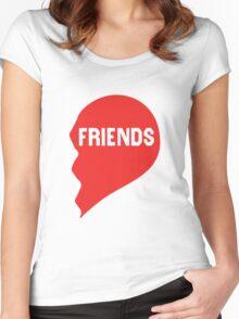 Best Friends Heart 2/2 Women's Fitted Scoop T-Shirt