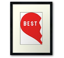 Best Friends Heart 1/2 Framed Print