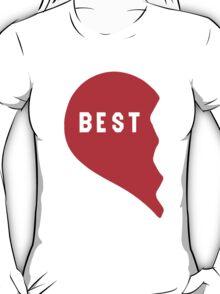 Best Friends Heart 1/2 T-Shirt