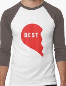 Best Friends Heart 1/2 Men's Baseball ¾ T-Shirt