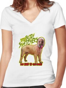 Body Snatcher Women's Fitted V-Neck T-Shirt