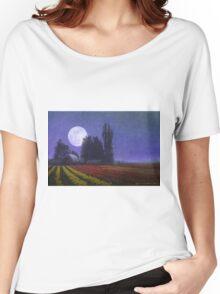moon rise over the tulip fields Women's Relaxed Fit T-Shirt