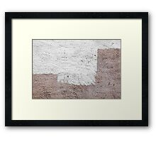 White Brown 03 Framed Print
