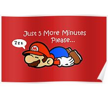 Paper Mario Napping  Poster