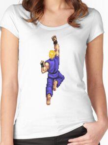 Blue Ken Shoryuken Women's Fitted Scoop T-Shirt
